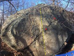 Rock Climbing Photo: Northwest face of Chalkless.