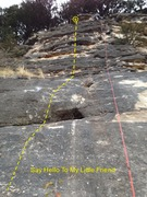 Rock Climbing Photo: Start left of the eye hole and continue straight u...