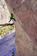 Rock Climbing Photo: Getting close to the redpoint crux