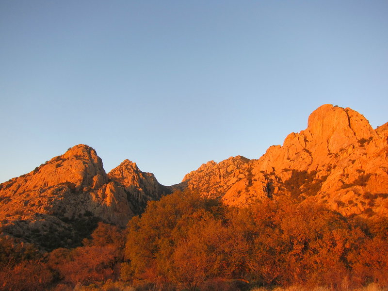 Rock Climbing Photo: Sunrise in the East Stronghold. March 2012
