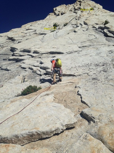 Starting up the south east buttress.