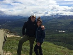 Rock Climbing Photo: Me and Emily on Mt. Healy overlook, DNP, Alaska.