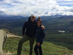 Rock Climbing Photo: Me and Emily on Mt. Healy overlook, DNP, Alaska.