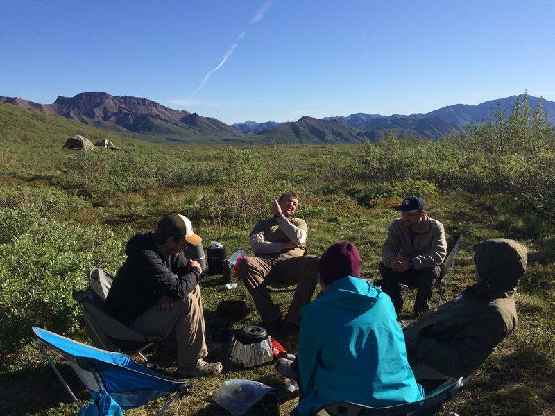 Backcountry lunch in Denali.