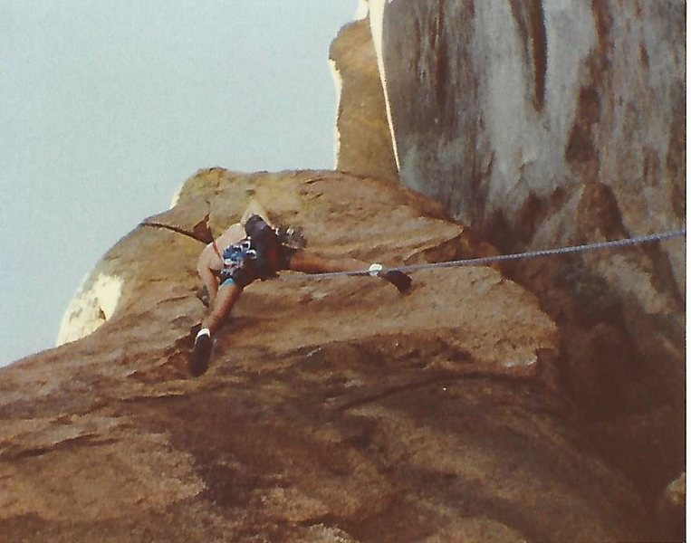 Russell Hooper on Moosehead around 1990, I took the pic while belaying with a Kodak 110 pocket camera