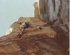 Rock Climbing Photo: Russell Hooper on Moosehead around 1990, I took th...