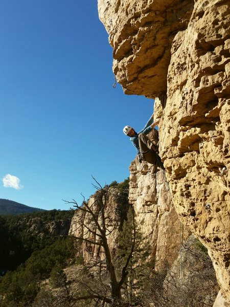 Rock Climbing Photo: And that's what we call the Shelf Road high st...