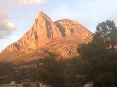 2500 feet of classic rock behind Finestrat
