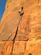 Rock Climbing Photo: Michelle rapping Agrestic Burning after the FA.