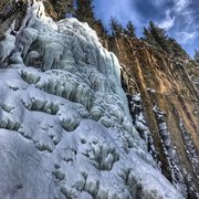 Rock Climbing Photo: Palisade Falls left as of 10 DEC 2016.