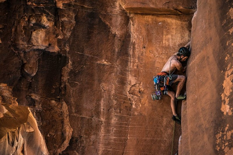 Such a great route! Into the meat of the fist section. Photo by Andres VJ (@sanfiago)