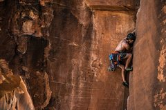 Rock Climbing Photo: Such a great route! Into the meat of the fist sect...