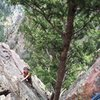 5th pitch of Rewritten in Eldorado Canyon.