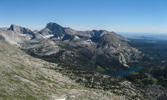 Rock Climbing Photo: Deep Lake and Temple Pass area above Big Sandy Lak...