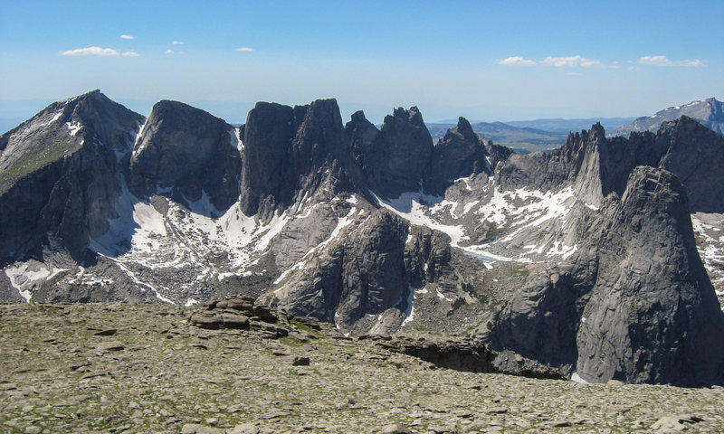 The cirque from the summit plateau of Mitchell. July 2010