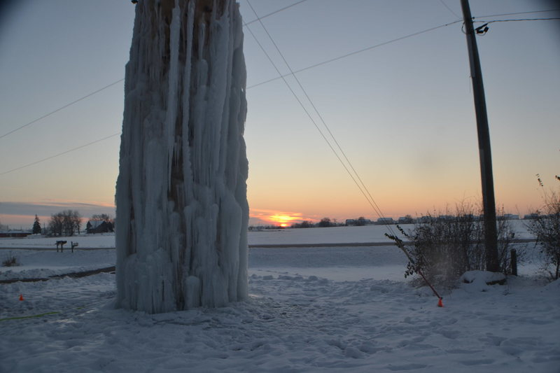 Rock Climbing Photo: Sunset Ice