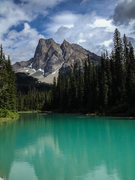 Rock Climbing Photo: Mount Burgess from Emerald Lake. June 2015