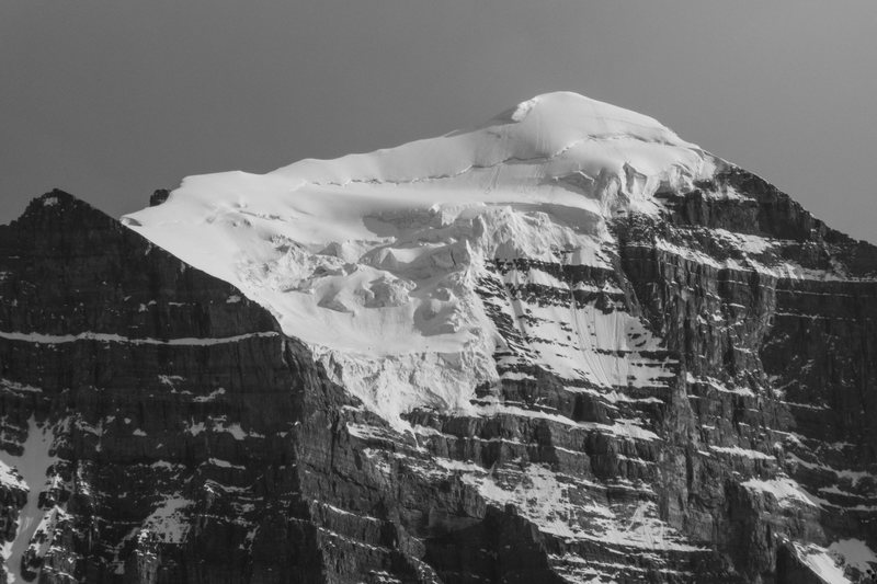 Mt. Temple and its hanging glacier. June 2015