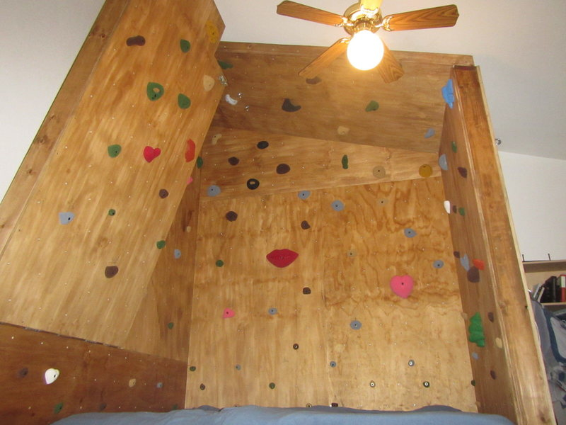 Rock Climbing Photo: Adjustable angled wall on left - vertical to 45 de...