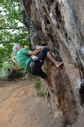 Rock Climbing Photo: burn crack tr antics