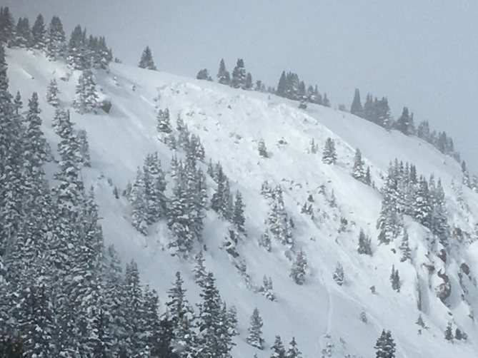 This is a skier triggered avalanche on Berthoud Pass in the Front Range zone on 12-11-2016. This was the group's second lap on the same slope. The first rider skied the path without incident. The second rider made three to four turns and the slope released. The skier was able to exit the avalanche without injury. The avalanche is classified as SS-ASu-R2-D2-G.