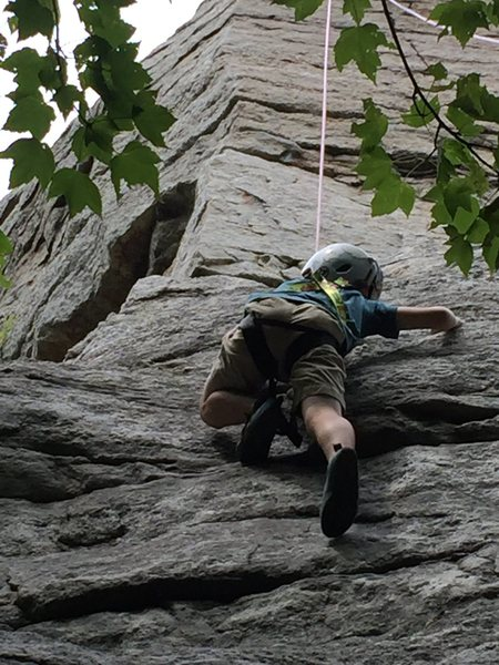 J. Cub, age 7, high on the route