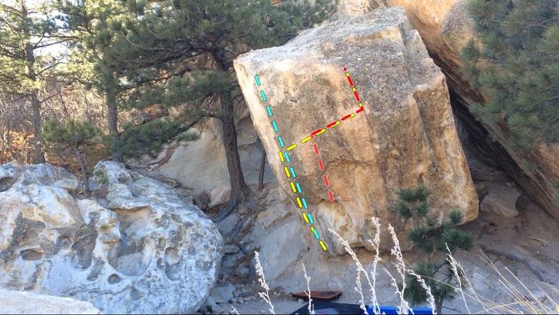 Rock Climbing Photo: Yellow - Atomic Wedgie. Red - Wedgie. Blue - Rain ...