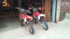 Rock Climbing Photo: CRF450X & CRF250X W/280 Kit