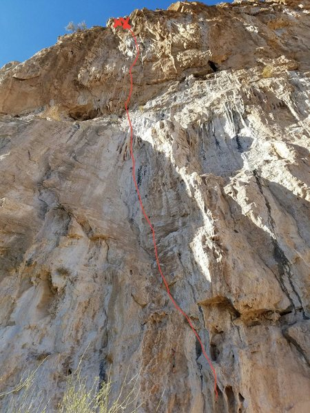 Rock Climbing Photo: Dead Sea route topo