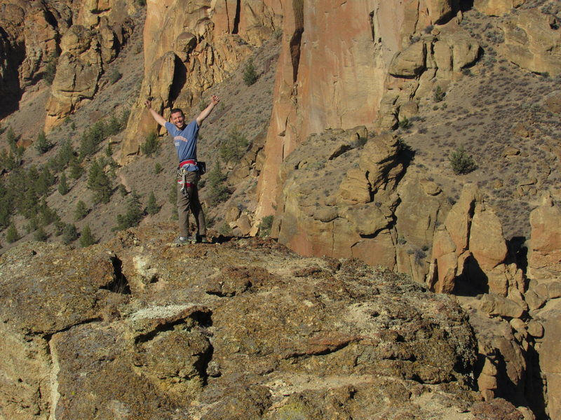 Rock Climbing Photo: Top of Wherever I May Roam in Smith Rock, OR