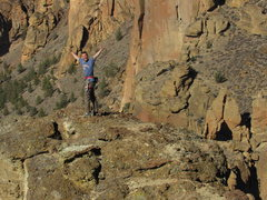 Top of Wherever I May Roam in Smith Rock, OR