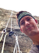 Rock Climbing Photo: Me and my solo top rope setup