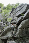 Rock Climbing Photo: Me trying desperately to make it up #8. Not much t...