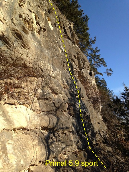 Rock Climbing Photo: Side View (steep slab)