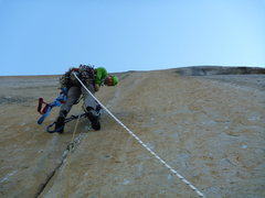 Rock Climbing Photo: triple cracks, Shield