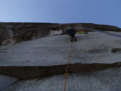 Rock Climbing Photo: Bart Bledsoe leading the Movie Screen into the Nav...