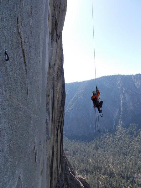 Rock Climbing Photo: air time on zodiac!