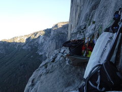 Rock Climbing Photo: morning on grey ledges