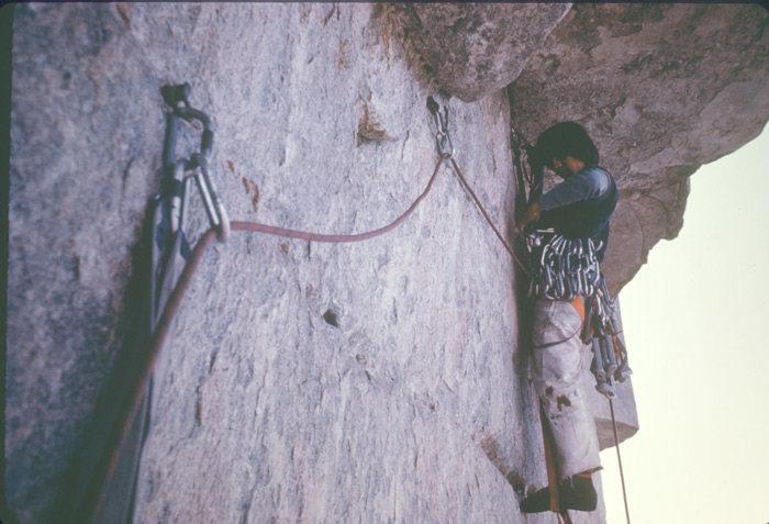 Rock Climbing Photo: Under the Salathe Wall roof.