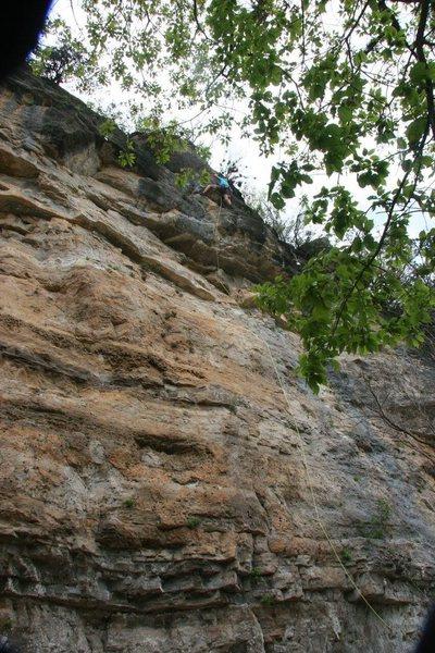 Rock Climbing Photo: Clipping the anchors