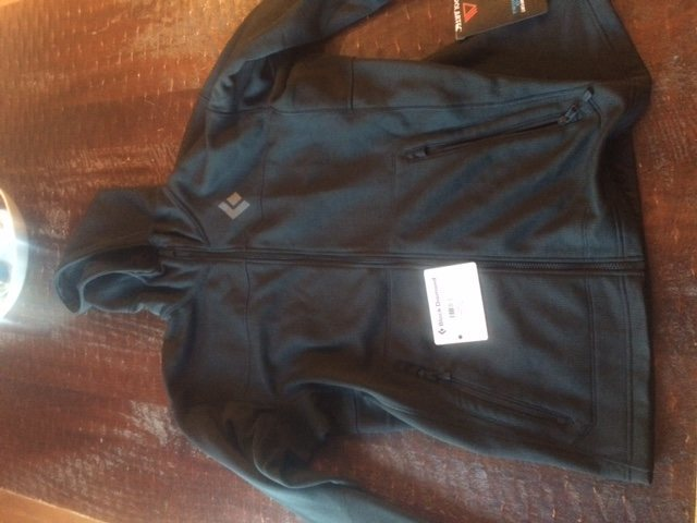 Black Diamond men's Solution Hoody. Only worn a couple of times. Sz XL - 50 shipped
