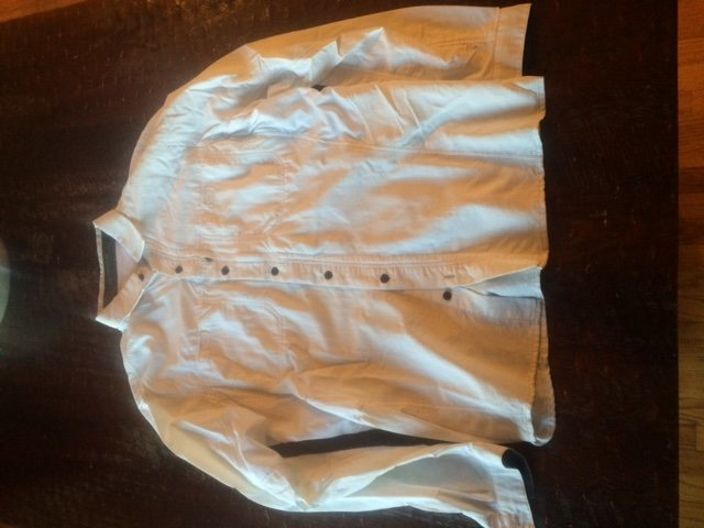 Kuhl brand lightweight travel style shirt white sz large. A little big on me. 25 shipped.
