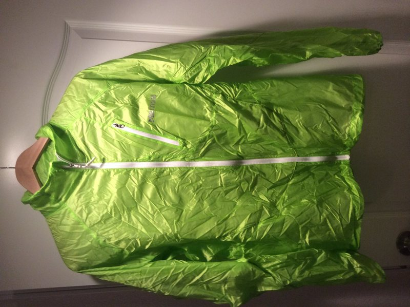 Marmot Ultralight wind jacket sz lag. Like new. Bright ass green (clearly). 35 shipped.