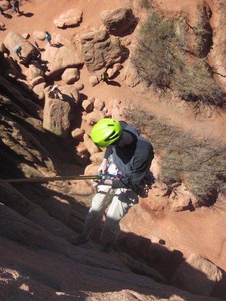 Rock Climbing Photo: Rapping Montezuma Tower