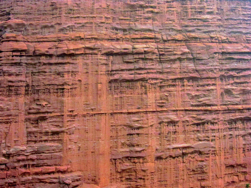 500 vertical feet of Cutler sandstone. August 2012