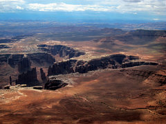 Rock Climbing Photo: Standing Rock and Monument Basin from the mesa top...