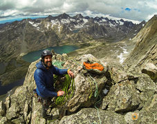 Rock Climbing Photo: Jake Frerk on the summit of the Red Tower after th...