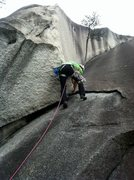 Rock Climbing Photo: Leading P1 of Great Arch