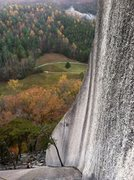 Rock Climbing Photo: View from top of P1