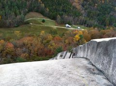 Rock Climbing Photo: View from the top of P3
